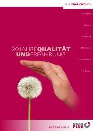 Zum Jahresbericht 2009 - Onko Plus