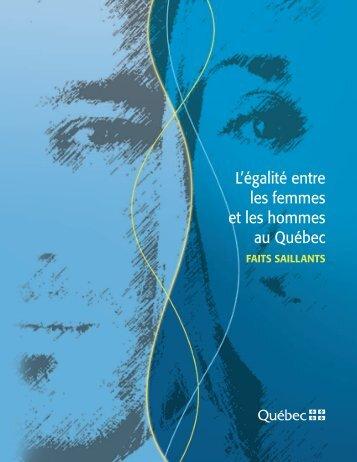 L'égalité entre les femmes et les hommes au Québec : Faits saillants