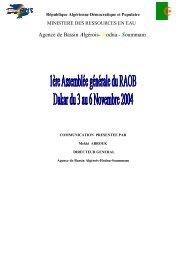 Agence de Bassin Algérois- Hodna - Soummam - INBO