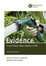 A Low Carbon Water Industry in 2050 - Environment Agency