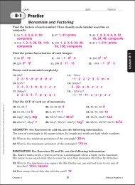evaluate homework and practice workbook answers algebra 1