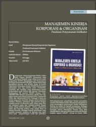 Manajemen Kinerja Korporasi dan Organisasi Panduan ... - SBM ITB