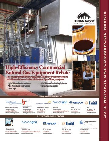 2013 Mass Save High Efficiency Commercial Equipment Rebate ...