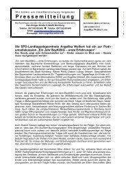 Pressemitteilung - Angelika Weikert, MdL