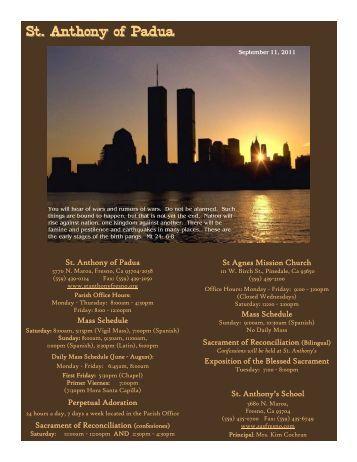 9/11/11 - St. Anthony of Padua Catholic Church