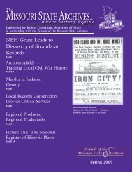 Spring 2009: The Missouri State Archives Newsletter - Friends of the ...