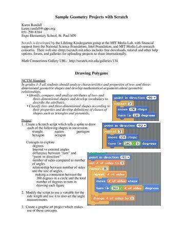 Sample Geometry Projects with Scratch