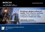Building a global culture of health (PDF) - Mercer Signature Events