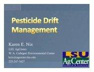 Pesticide Drift Management Issues