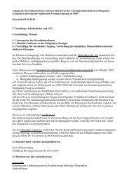 Protokoll 5. März 2010 - Arbeitsgruppe der Koordinator(inn)en in der ...