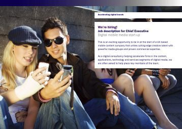 We're hiring! Digital mobile media start-up - Digital Strategy Consulting