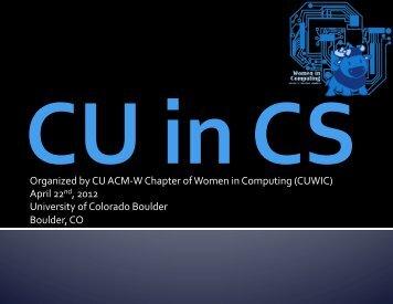 here - Computer Systems @ Colorado - University of Colorado ...