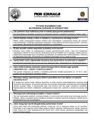 Srebrna odznaka - pytania egzaminacyjne i odpowiedzi