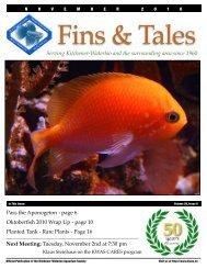 November 2010 - Kitchener Waterloo Aquarium Society