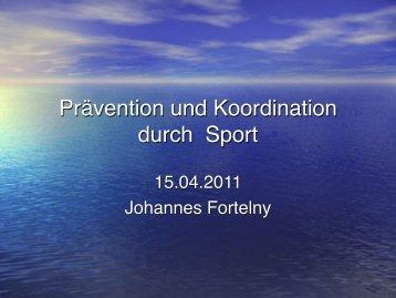 Prävention und Koordination durch Sport - Bvs-waldsassen.de