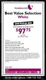 Best Value Selection April 2010 - White - The Wine Society