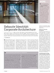Gebaute Identität: Corporate Architecture - Award für Marketing + ...