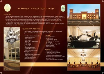 al hamra convention center - Al Hamra Fort Hotel & Beach Resort