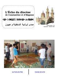 echo sept oct 2012 -electronique - Église Catholique d'Algérie