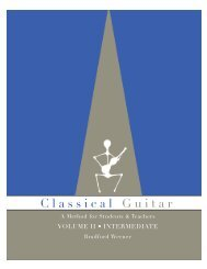 Introduction and table of contents - Classical Guitar Canada