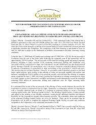 Connacher Announces Increased Offering of First Lien Senior ...