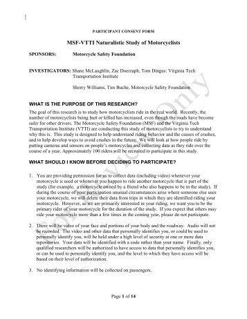 Myasthenia Gravis Study Owner Consent Form - Comparative ...