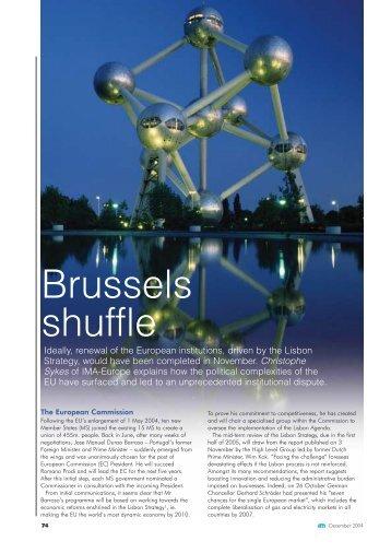 Brussels shuffle - IMA Europe