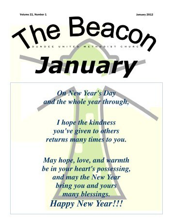 Happy New Year!!! - Dundee United Methodist Church