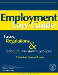U.S. DOL Employment Law Guide - Union One