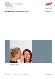Rufsystem mit Sprachfunktion hospicall P7 - ESAG