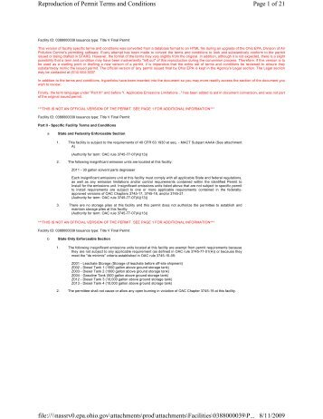 Page 1 of 21 Reproduction of Permit Terms and Conditions 8/11 ...