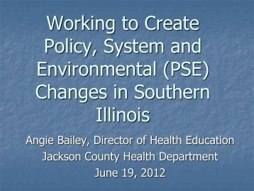 Collaboration in Jackson County - Illinois Public Health Association