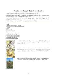 Národní park Podyjí - Botanický průvodce