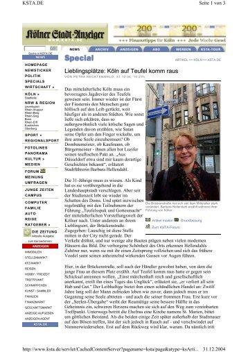 Lieblingsplätze: Köln auf Teufel komm raus
