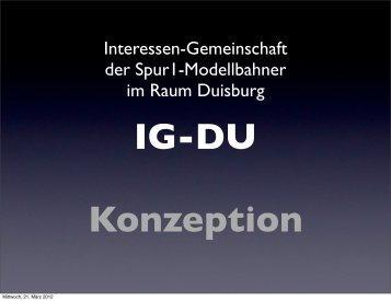 Konzeption IG-DU