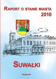 Raport o stanie miasta Suwałki 2010 - Suwałki, Urząd Miasta