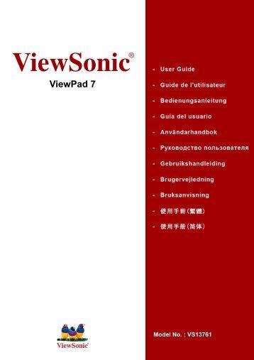 Manual espaniol ViewPad7 - ViewSonic