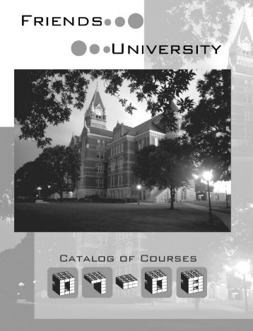 2007-08 Course Catalog - Friends University
