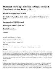 Outbreak of Mumps Infection in Oban, Scotland, November 2010 to ...