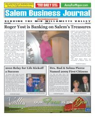 Mar 2010 - Salem Business Journal