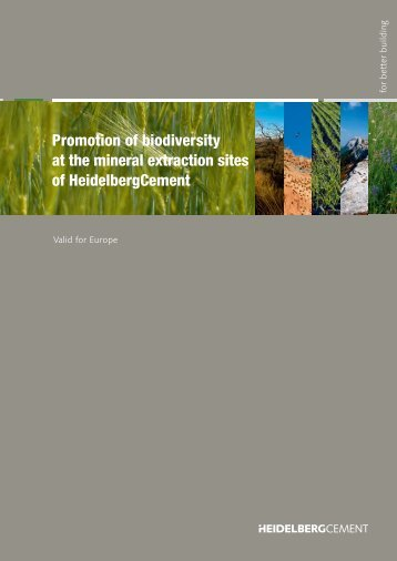 Promotion of biodiversity at the mineral extraction sites of ...