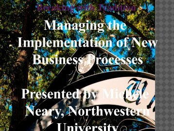 Managing the Implementation of New Business ... - AACRAO