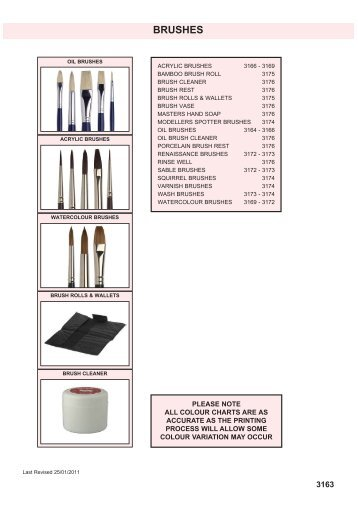 BRUSHES - Squires Model and Craft Tools