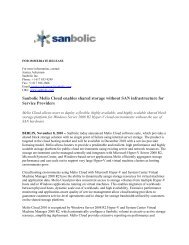 Sanbolic Melio Cloud enables SANless shared storage for Hosting ...