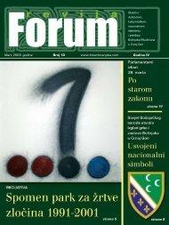 Mart, 2009. go di ne Broj 10 www.forumbosnjaka.com Go di na IV