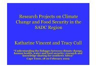 Research Projects on Climate Change and Food Security in the SADC ...