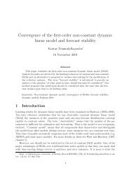 Convergence of the first-order non-constant dynamic linear model ...