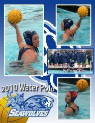 2010 Women's Water Polo Media Guide (.pdf) - Sonoma State ...