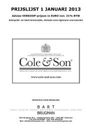 COLE & SON prijslijst 2013 - Bart Brugman