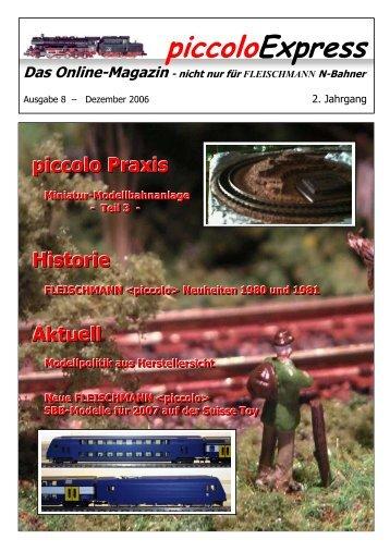 Historie FLEISCHMANN <piccolo> - Spur N Datenbank